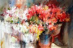 Flower Market by Fabio Cembranelli  (Watercolor)