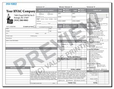 hv 1003 hvac time materials work order invoice 1 value printing
