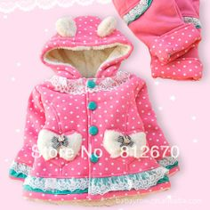 Free shipping New arrival baby girl winter clothes set infant suit kids clothing thick with hoodies XC-0108