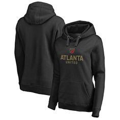 Atlanta United FC Fanatics Branded Women's Shielded Pullover Hoodie - Black