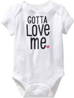 Shop Old Navy's collection of bodysuits and tops for your baby girl. Old Navy is your one-stop shop for stylish and comfortable baby clothes at affordable prices. Pretty Baby, Baby Love, Girls Clothes Shops, Cool Baby Clothes, Baby Girl Tops, Shop Old Navy, Maternity Wear, Bodysuits, Baby Gifts