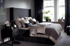 Slaapkamer klassiek - modern. Chique slaapkamer krijg je door de juiste kleurencombinatie.