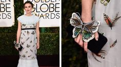 Keira Knightley Carried a Butterfly Clutch