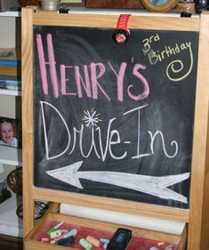 Henry's 3rd Birthday Drive-in | CatchMyParty.com