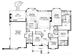 1st Floor Plan image of Featured House Plan: BHG - 9093 with walkout basement