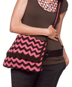 "Free pattern for ""Knit or Crochet Ripple Bag""!"