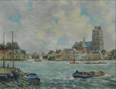 Gezicht op Dordrecht, Seegers, A.