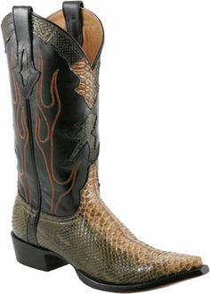 Mens Lucchese Since 1883 Jungle Python Cowboy Boots M3209