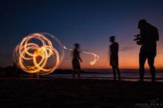 Fire Film. Mindil Beach Sunset Markets