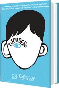 Don't judge a boy by his face... 'Wonder' by R.J. Palacio.
