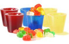 Gummy Shot Glasses - Cherry, Raspberry & Pineapple