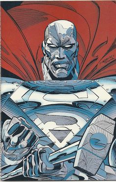 "thecomicsvault: ""John Henry Irons aka Steel by John Bogdanove & Dennis Janke Superman: The Man Of Steel (June "" Superman Comic, Batman, Cyborg Superman, Black Superman, Superman Stuff, Dc Heroes, Comic Book Heroes, Comic Books Art, Comic Art"