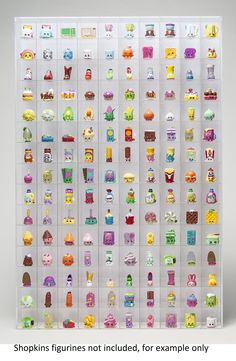 Wall Hanging Acrylic Showcase for Collectibles-150 Openings Compatible with Shopkins