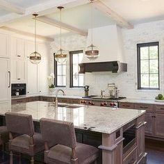 Fantasy Brown Granite Countertops, Transitional, Kitchen