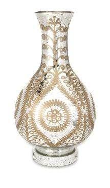 Carmina Oversized Etched Glass Vase