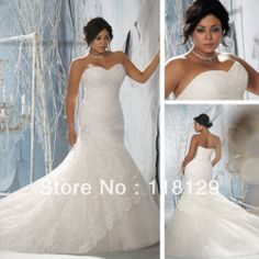 2013  Gorgeous Sweetheart White Lace Beaded Full Length Sexy Corset  Plus size Wedding Gowns Mermaid 3143-in Wedding Dresses from Apparel  Accessories on Aliexpress.com $228.00