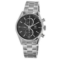TAG Heuer Men's CAR2110.BA0720 Carrera Black Dial Chronograph Steel Watch TAG Heuer. $3648.31. Stainless steel bracelet. Water-resistant to 100 M (330 feet). Black dial. Chronograph feature. Automatic movement. Save 31%!