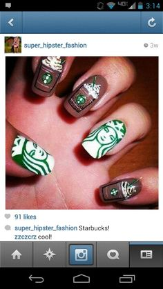 We've seen a lot of creative nail art around and can say most people have creative ideas. Here are examples of brilliant nail art ideas to inspire you. Cute Nail Art, Nail Art Diy, Diy Nails, Food Nail Art, Manicure Ideas, Glitter Nails, Crazy Nails, Love Nails, How To Do Nails