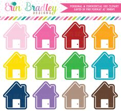 House Clipart Graphics – Erin Bradley/Ink Obsession Designs