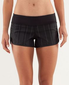 Lululemon RUN: Speed Short --- love these with the reflective pinstripes for early morning runs (they have three pockets too!!!)