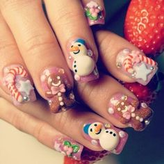 256 Best Christmas Nails Images On Pinterest In 2018 Holiday Nail