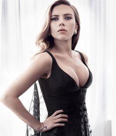 Scarlett Johansson black dress