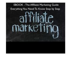 webcreationguys: send You My Amazing Affiliate Marketing Ebook Best Guide On The Web for $5, on fiverr.com