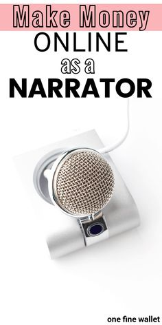 How to become a voice actor, and make money from home as an audiobook narrator. by Read Make Easy Money, Way To Make Money, How To Make, Work From Home Opportunities, Work From Home Jobs, Voice Acting, The Voice, Earn Money From Home, Make Money Online