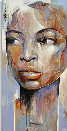This. This painting is my main character's face.      Art of the Day - Danny O'Connor