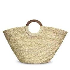 Natural handwoven straw handbag - Head O Silver Accessories, Fashion Accessories, South African Shop, Straw Handbags, White Leopard, Wooden Handles, Straw Bag, Hand Weaving, Jewelry Design