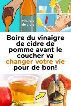 Boire du vinaigre de cidre de pomme avant le coucher va changer votre vie pour de bon! Atkins Diet, Health Tips, Detox, Health Fitness, Conservation, Honey, Fitness, Healthy Lifestyle Tips, Health And Fitness
