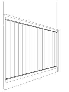 Risultati immagini per parete in legno perlinato verticale bianco