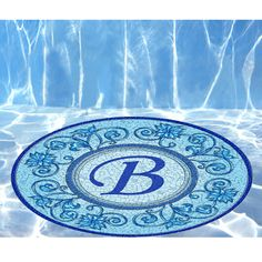 The Instant Monogrammed Pool Mosaic -