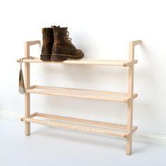 Anlehnregal Schuhregal Gaston aus Esche Holz
