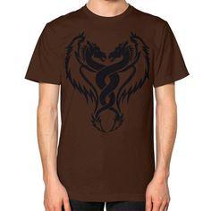 DOUBLE DRAGON TATTOO ON AMERICAN APPAREL Unisex T-Shirt (on man)