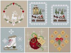 Новогодняя вышивка крестом: маленькие схемы
