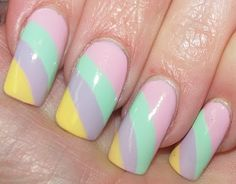 Pretty Pastels Nail nails design nails featured,  Go To www.likegossip.com to get more Gossip News!