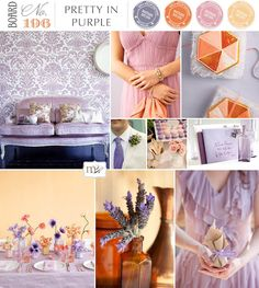 I'm liking this color palette of lavender, orange, rose and yellow.