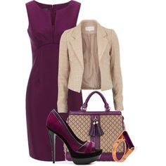 A fashion look from March 2013 featuring wool dress, cream jacket und brown purse. Browse and shop related looks.