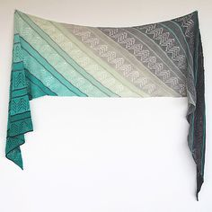 Ravelry: Inara Wrap pattern by Ambah O'Brien - works well with two gradients - love these patterns! - This pattern is available for $6.00 USD Introductory offer: enjoy $1 off this pattern through to midnight October 31, 2015 with the checkout code sunshine