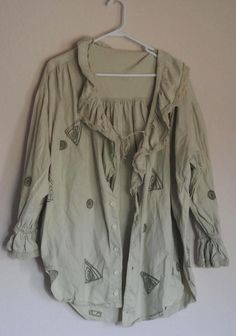 Blue Fish Long Sleeve Jacket w Lace OSFA Light Green - rarely seen gem from 1995