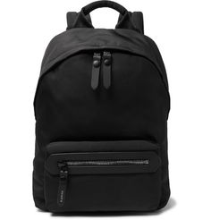 LANVIN Leather-Trimmed Canvas Backpack. #lanvin #bags #leather #canvas #backpacks #