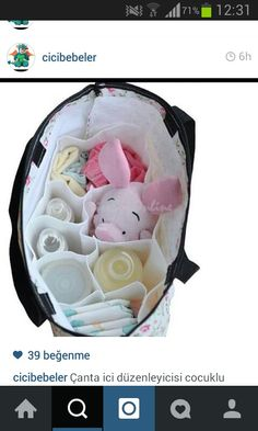 Bebek çanta düzeni