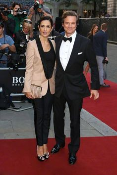 Tremendous Colin Firth And His Wife Livia Colin Friends And Family Easy Diy Christmas Decorations Tissureus