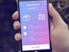 Delivery Tracker - by Matt Herrmann | #ui