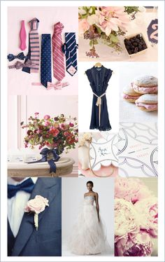 Navy and pink..