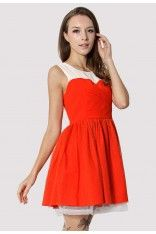 Tulle Heart Shape Wrap Dress in Red. Also lovely in red! #Chicwish #vintagestyle #lovely