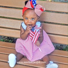 Want this 4th of July outfit for your baby girl? Check out my blog www.mackenziestyle.com for more kids fashion