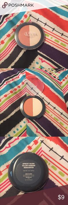 Ulta Blush/Higlight duo Apricot blush and yellow diamond higlight. Only lightly swatched. Great for summer and beautiful! Ulta Makeup Luminizer