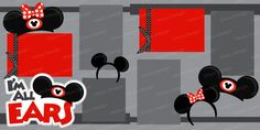 I'm all ears scrap page - Disney